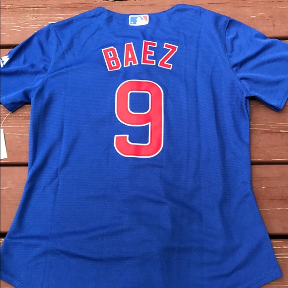 best loved 070dc 57c4d Women's Javier Baez Cubs World Series jersey (L) NWT