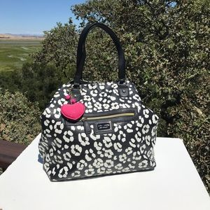 Betsey Johnson Black White Leopard Tote