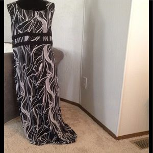 Black, Grey, & White Maxi