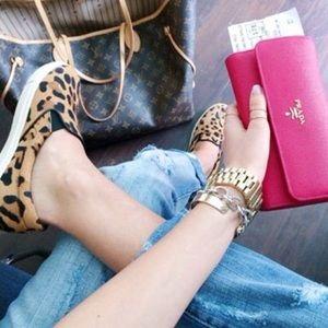 Steve Madden Cheetah Slip Ons Loafers