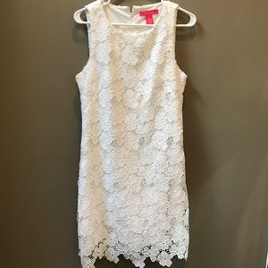 Dresses & Skirts - White lace sheath dress