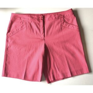 Izod Golf Shorts 12 Pink Textured Unlined