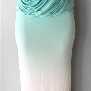 Young Fabulous and Broke Lina Maxi Dress in Sky Ombre S