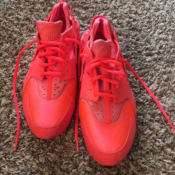 Nike Shoes | Neon Orange Huaraches