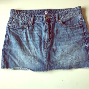GAP Jean Skirt Cutoff Denim 6