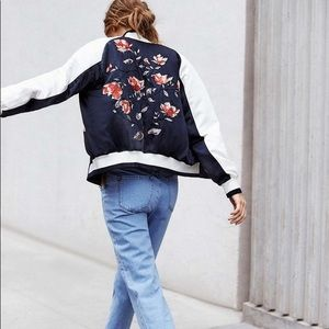 Urban Outfitters On Tour Floral Bomber Jacket