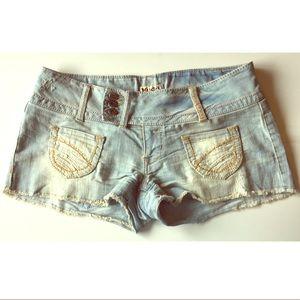 Mudd Distressed Cutoff Jean Shorts Denim 9 Junior