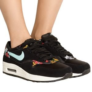 Nike Air Max 1 Suede/mesh and Printed Sneakers