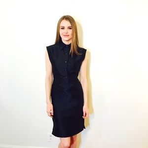 TOMMY HILFIGER COLLECTION SILK BLACK DRESS #A21