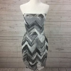 BANANA REPUBLIC Size 10 Linen Chevron Dress