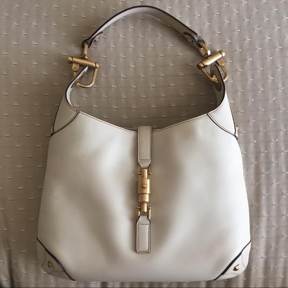 ec9251c2f Gucci Bags | Jackie O Piston Cream Hobo Shoulder Bag | Poshmark