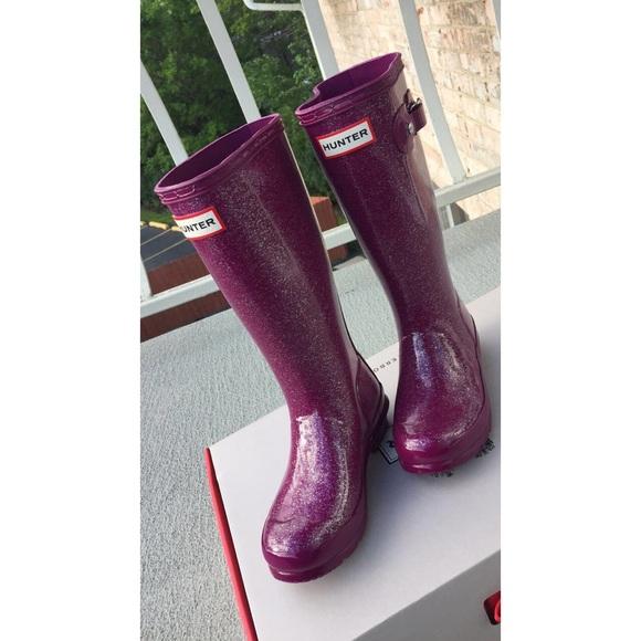 e655da5b0ff0 Hunter Shoes   Original Kids Glitter Finish Rain Boots   Poshmark