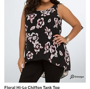 Chiffon tank top