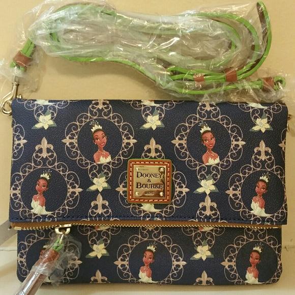 de9b1175a27 Disney Princess Tiana Fold Over Crossbody Bag.