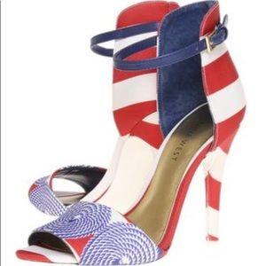 Nine West 2-Part Acre, Red White & Blue Sandals