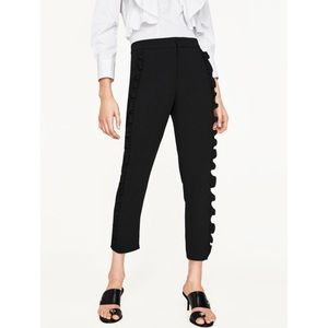 Flowing Frilled Trousers✨Zara