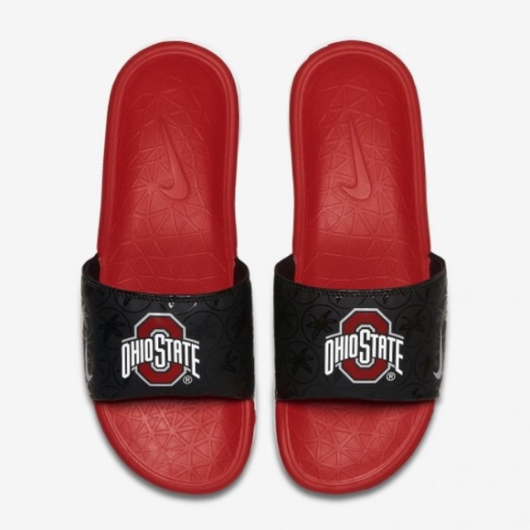 aa8ae0bc3590 Nike Men s Benassi Solarsoft Ohio State Slides