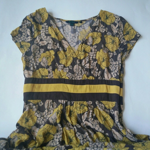 87 off boden dresses skirts boden yellow grey floral for Boden yellow