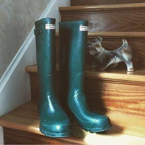 Hunter Rain Boots: Green Men's Original Tall