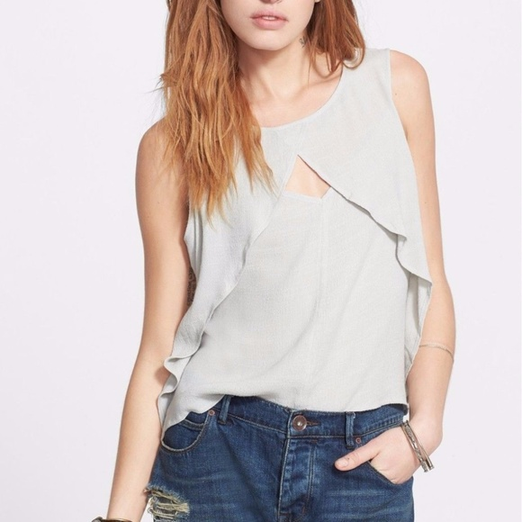 Free People Tops - Free People Slubbed Out Crinkle Sleeveless Top