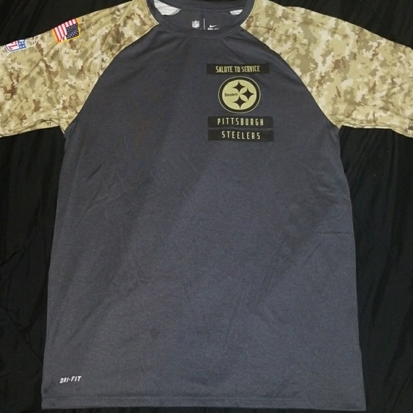 new style 32f8d c9514 Steelers salute to service dry fit