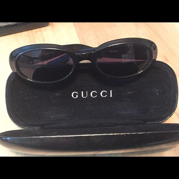 20a3ebda Gucci vintage black oval sunglasses GG2419,