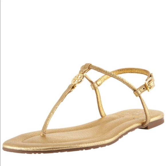 0beca3d4d08db7 Tory Burch Emmy Metallic Thong Sandal in Gold. M 5976a398d14d7bf633005769