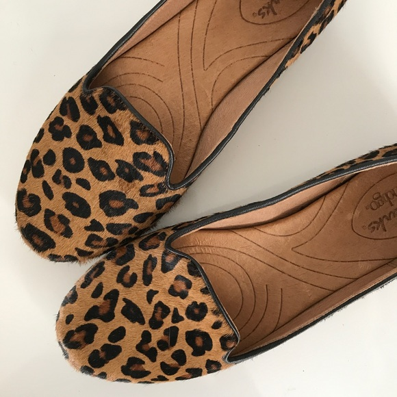 Clarks Leopard Print Calf Hair Loafers