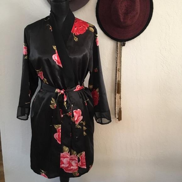 09bb57d35c Satin robe red roses. M 5976a61bbf6df5c81e006221. Other Intimates    Sleepwears you may like. Morgan Taylor ...
