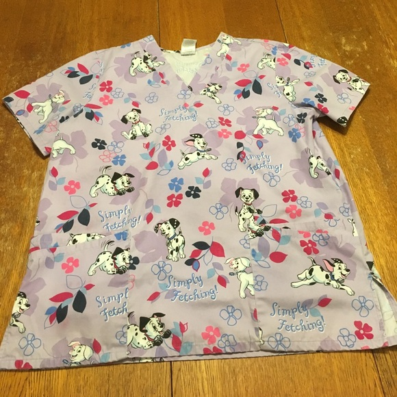 e2e3dd54dbc The Wonderful World of Disney Tops | Final Sale 101 Dalmatians Scrub ...