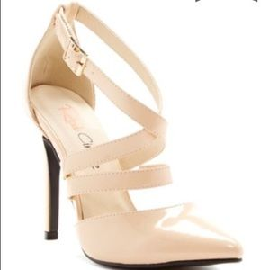 Nude Strappy Patent Leather Heels. BNIB! NEW!