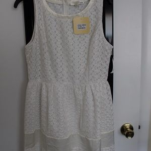 INA White Lace Dress NWT, Large Red Dress Boutique