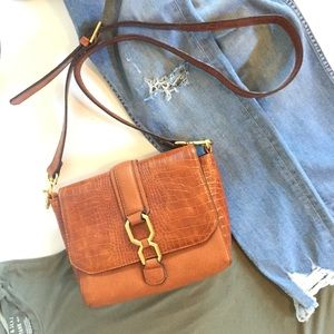 Topshop Brown w Gold Crossbody Bag New w Tags