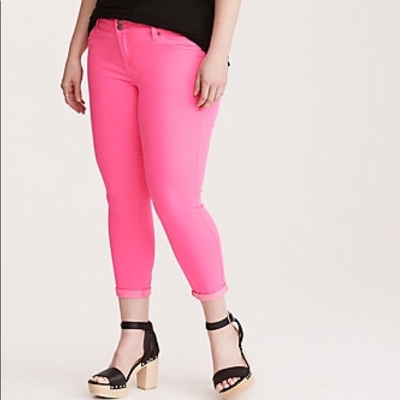 c1ccb85f1a1 ️Torrid Hot Pink Jeggings Size 14- NWT
