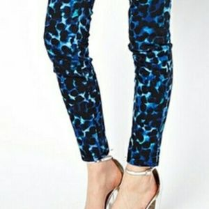 J Brand MidRise Super Skinny Indigo Ink Blot Jeans