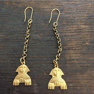 Brass Pharaoh Egypt Brass earrings
