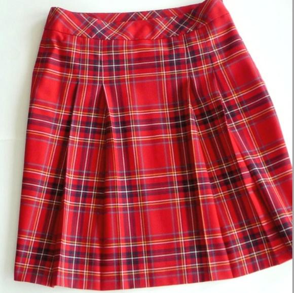 0968cd33f8 BROOKS BROTHERS Dresses & Skirts - BROOKS BROTHERS VINTAGE RED TARTAN WOOL  SKIRT