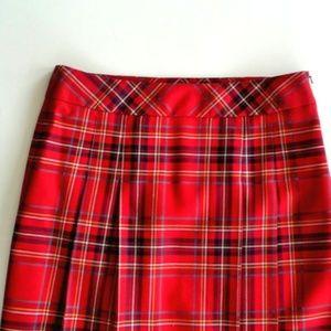 0b739c260f BROOKS BROTHERS Skirts - BROOKS BROTHERS VINTAGE RED TARTAN WOOL SKIRT