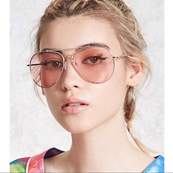 3b050562e6 Forever 21 Accessories | Pink Tinted Aviator Sunglasses | Poshmark