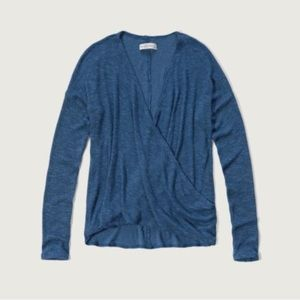 Abercrombie surplice knit long sleeve