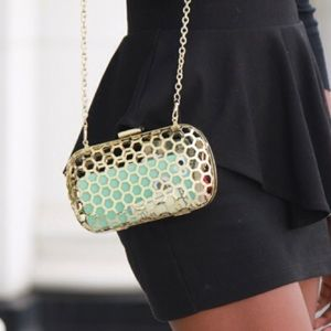 BCBGeneration Bags - BCBGeneration Honeycomb Clutch