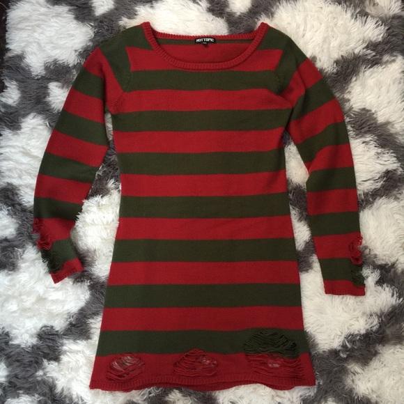 Hot Topic Dresses Freddy Krueger Sweater Dress Poshmark