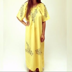 Dresses & Skirts - Boho Vintage 70s Festival Floral Maxi Caftan Dress