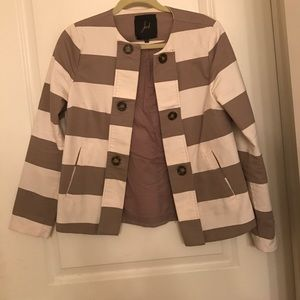 Striped Jacket with Button Detailing