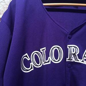 5e5a6483aeb Shirts - Colorado Rockies Michael Cuddyer  3 Button Jersey