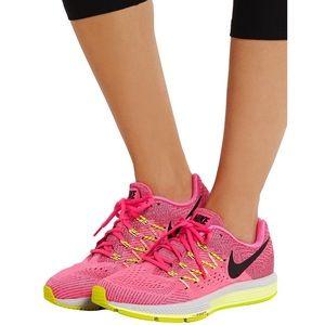 Nike Air Zoom Vomero Neon Pink Mesh Sneakers