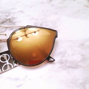 Aly Posh Boutique Accessories - Black & Gold Mirror Sunglasses