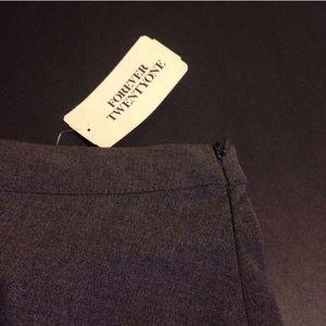Forever 21 Skirts - Heather Gray Pleated Skirt