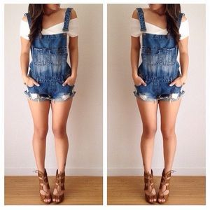 Pants - Denim overalls