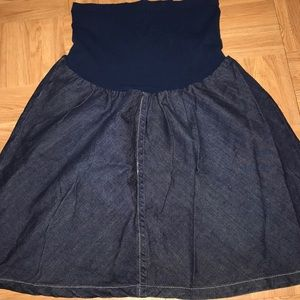 Motherhood Maternity jeans Skirt